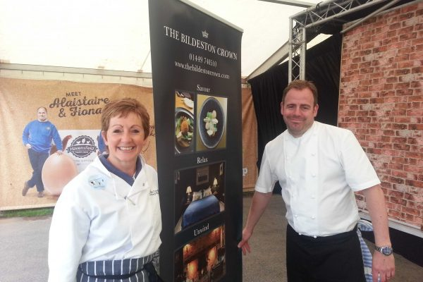 Cook with ….Chris.  Nedging Lamb is at the Show, on the menu and in the papers!