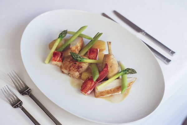 Suffolk Chicken, Lobster and Summer Vegetables