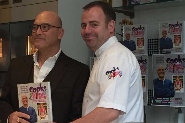 "The Bildeston Crown's Chris Lee joins MasterChef judge Gregg Wallace for ""Cooks & Kids"" – cookbook no.3 launched today"