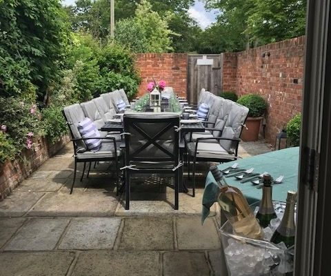 NEW – Al fresco dining and private barbecues from just £30 per person in our own secret garden